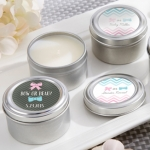 Gender Reveal Personalized Travel Candle Shower Favors