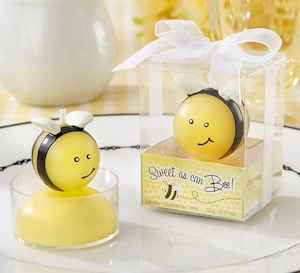 'Sweet as Can Bee' Baby Bee Candles (Set of 4) imagerjs