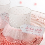Tutu Cute Frosted Votive Candle Baby Shower Favors (Set of 4