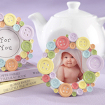 'Cute as a Button' Round Photo Frame