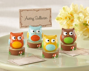 Who's the Cutest Baby Owl Place Card Holders (Set of 4) imagerjs
