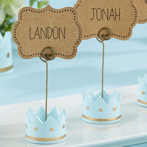 Little Prince Crown Place Card Holders (Set of 6) imagerjs