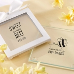 Personalized 'Sweet as can Bee' Glass Coasters (Set of 12)
