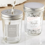 Personalized Rustic Baby Shower Mason Jars (Set of 12)