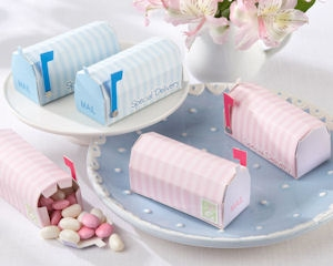 Special Delivery Favor Mailbox (Pink or Blue - Set of 24) imagerjs