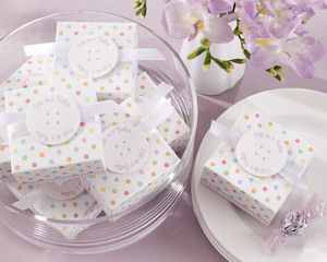 Cute As a Button Baby Shower Favor Boxes (Set of 24) imagerjs