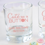 Personalized 'Cute as a Button' Printed Votive Holder