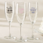 Personalized Baby Shower Favor Champagne Flutes