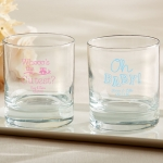 Personalized Baby Shower Rocks Glass Favors