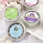 Simply Sweet Round Baby Shower Candy Tins (Set of 12)