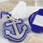 Anchor Luggage Tag Baby Shower Favors