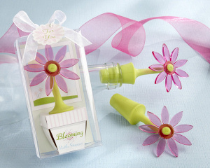 Blooming Flower Bottle Stopper Shower Favor imagerjs