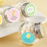 Mini Glass Personalized Baby Favor Jars (Set of 12)
