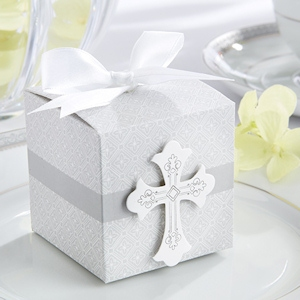Baptism Cross Party Favor Box (Set of 24) imagerjs