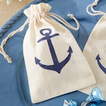 Anchor Themed Baby Shower Favor Bags (Set of 12)