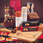 Corporate Logo Cutting Board with Party Snacks Gift Set