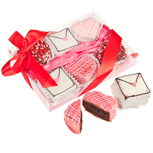 Valentine's Brownie Gift - Box of 6 imagerjs