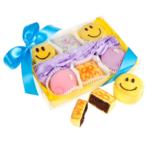Happy Birthday Brownie Gift - Box of 6 imagerjs