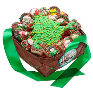 Christmas Cookies Gift Basket - 19 Pieces imagerjs
