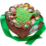Christmas Cookies Gift Basket - 19 Pieces