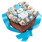 18 Piece Winter Bakery Desserts Gift Basket