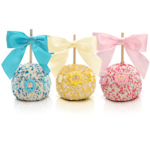 New Baby Chocolate Covered Apple Favors