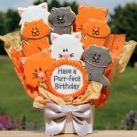 Cookie Bouquet - Purr-fect Birthday (Cats)