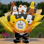 I Wuv You Dog Themed Cookie Bouquet