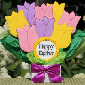 Happy Easter Spring Tulips Cookie Bouquet imagerjs