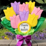 Cookie Bouquet - Thanks A Bunch Tulips (Thank You)