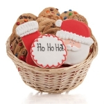 Santa's Christmas Cookie Gift Basket