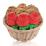 Red Rose Cookie Gift Basket