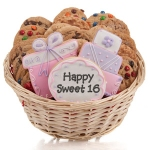 Sweet Sixteen Cookie Gift Basket