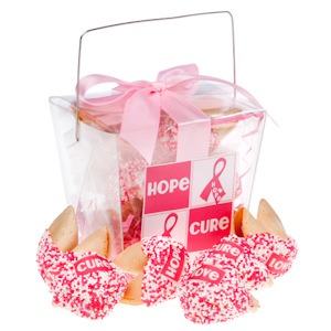Pink Ribbon Fortune Cookie Take Out Pail imagerjs