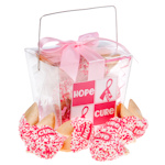 Pink Ribbon Fortune Cookie Take Out Pail