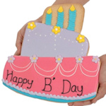 Giant Birthday Cake Sugar Cookie