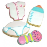 Baby Themed Iced Sugar Cookies