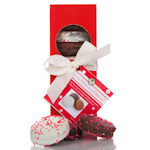 Chocolate Covered Oreo Elegant Red Gift Box