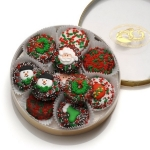 Chocolate Dipped Oreos Christmas Tin