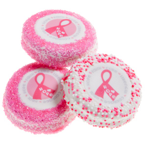 Pink Ribbon Chocolate Dipped Oreo Cookie Favors imagerjs