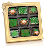 St. Patrick's Day Chocolate Dipped Mini Krispies Gift Box