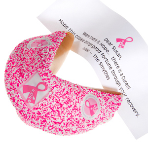 Pink Ribbon Giant Fortune Cookie imagerjs