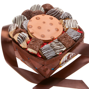 Classic Chocolate Dipped 18 Piece Dessert Basket imagerjs