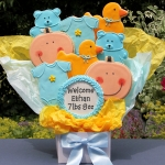 Baby Boy Gourmet Cookie Bouquet Gift