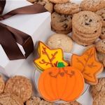 Leaves and Pumpkins Gourmet Cookie Box