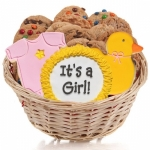 New Baby Girl Cookie Gift Basket