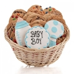 Baby Boy Cookie Gift Basket