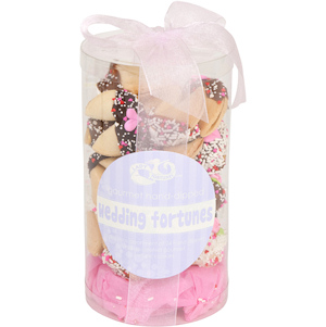 Wedding Themed Fortune Cookie Cylinder - Set of 24 imagerjs