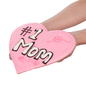1 Mom Heart Shaped Giant Sugar Cookie imagerjs