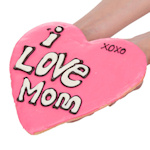 Love for Mom Giant Heart Shaped Sugar Cookie